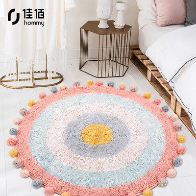 佳佰【印度进口手工圆毯】客厅地毯 圆形地毯 儿童房地垫