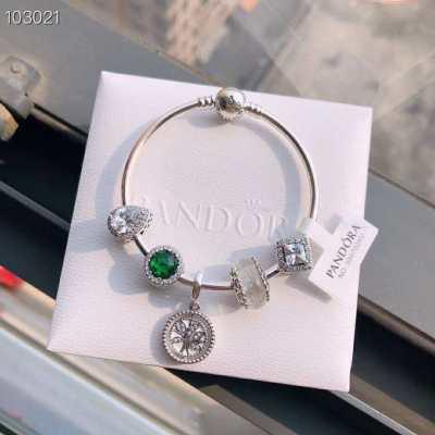 网红时尚潘多拉手链手镯女纯银925串珠