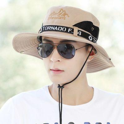 钓鱼帽男遮阳帽防晒帽户外渔夫帽太阳帽**帽渔夫帽可折叠凉帽