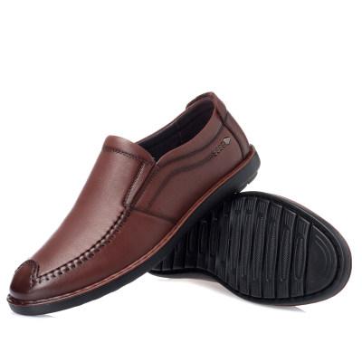 公牛前线男士休闲皮鞋头层牛皮 内里:头层猪皮 底材:聚氨酯