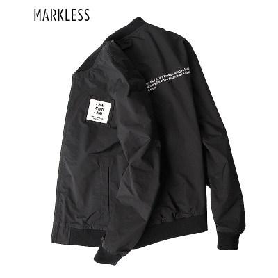 MARKLESS 夹克男潮流工装飞行外套休闲运动薄款棒球服J