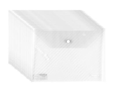 广博(GuangBo) 白色A4透明文件袋 按扣档案袋 办公用品 20个装 A6399