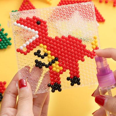 神奇水雾魔法珠手工diy益智男孩女孩水珠拼图拼豆豆儿童玩具套装包邮