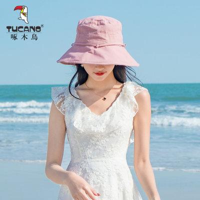 啄木鸟 TUCANO 帽子女款夏季渔夫帽休闲潮流韩版遮阳帽防