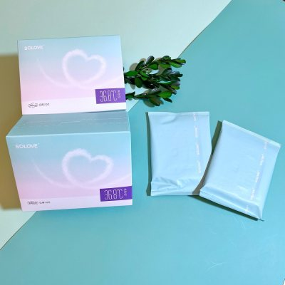 SOLOVE米菲日用卫生巾240mm纯棉柔亲呼吸全国包邮姨妈巾整箱16盒