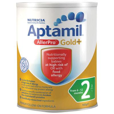 【耘凡兔013】澳洲爱他美深度水解婴幼儿奶粉aptamil allerpro2段900g奶粉*3罐(澳洲直邮)
