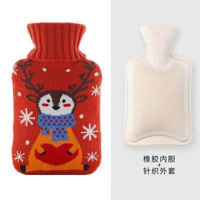 【今日秒杀】1000ml注水热水袋橡胶暖水袋暖手宝礼物批发定制礼品暖手袋【正品】