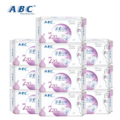 【耘凡兔207】ABC***超长扇尾夜用产妇月子420mm纯棉柔3片10包