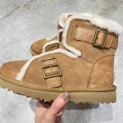 UG* 雪地靴 机车款短靴 加绒保暖2020秋冬新款女靴