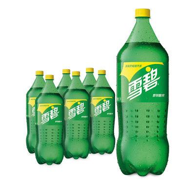 雪碧 Sprite 柠檬味 汽水 碳酸饮料 2L*6瓶
