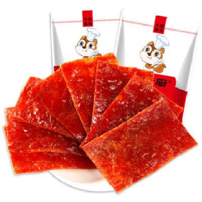 【耘凡兔386】鼠大厨鼠大厨猪肉脯80gX3袋原味办公室零食肉制品