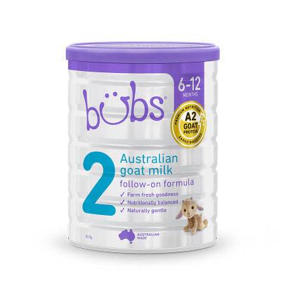 【耘凡兔013】澳洲bubs羊奶粉贝儿婴儿羊奶粉2段幼儿宝宝配方羊奶粉800g*2罐