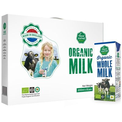 荷兰进口 乐荷(vecozuivel)全脂有机纯牛奶
