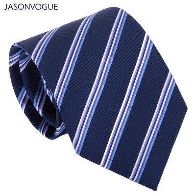 杰尚维格JASONVOGUE 男士领带真丝商务正装桑蚕丝条纹