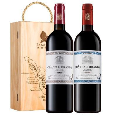 拉蒙 原瓶进口红酒 波尔多AOC 布兰达(B标+E标)干红