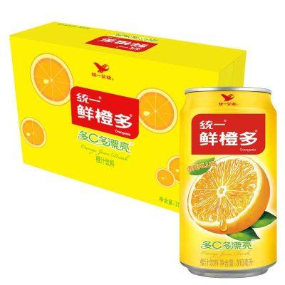 统一 鲜橙多 罐装橙汁 310ML*24罐 整箱装