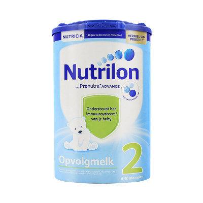 【耘凡兔013】荷兰Nutrilon诺优能牛栏较大婴儿配方奶粉2段易乐罐6-12月龄800g*2罐