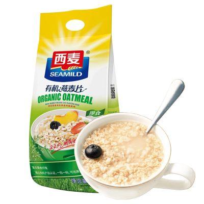 西麦 有机燕麦片 无添加蔗糖 即食 谷物代餐麦片1050g