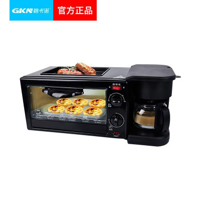 GKN格卡诺三合一早餐机 家用多少功能多士炉三明治机 面包烘焙机 咖啡机