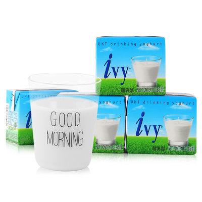 爱谊(Ivy)泰国原装进口酸奶饮品原味180ml*4盒