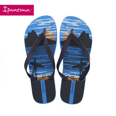 ipanema 巴西进口人字拖男士印花防滑沙滩平底拖鞋外穿