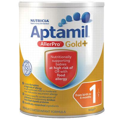 【耘凡兔013】澳洲爱他美深度水解婴幼儿奶粉aptamil allerpro1段900g奶粉*3罐(澳洲直邮)
