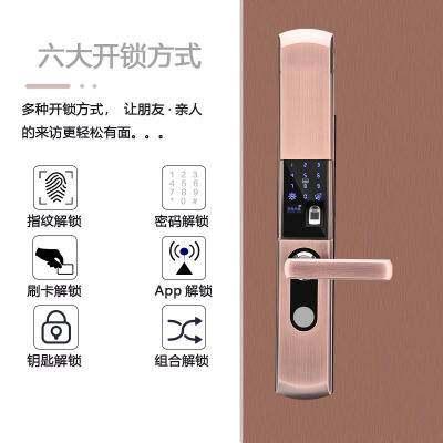 厂家批发全自动密码锁 智能家居电子锁 代发防盗门锁指纹锁室内【优品】