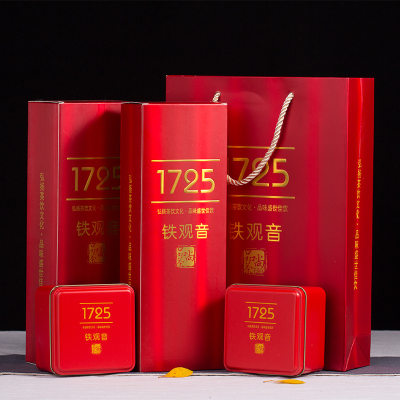 聚天禾新茶铁观音礼盒装1725烟条清香型铁观音高山乌龙茶