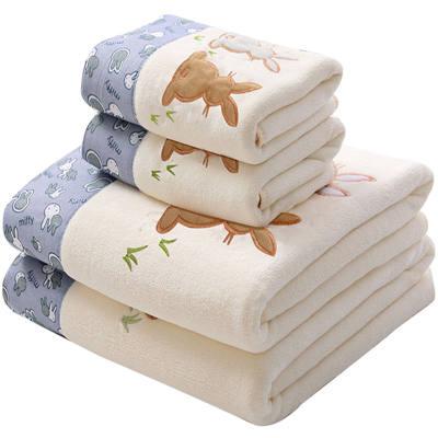 浴巾毛巾套装成人加大号比纯棉吸水男女儿童网红沙滩浴巾洗脸洗澡