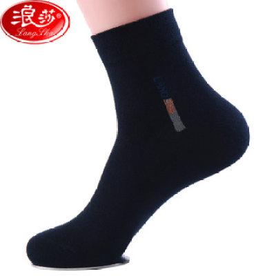 【耘凡兔697】6双 浪莎男士袜子100%纯棉男袜吸汗透气中筒袜四季款全棉商务男袜
