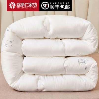 被子冬被全棉加厚保暖冬季棉被双人冬天被芯10斤12秋冬丝绵被单人【正品】