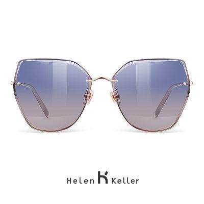 海伦凯勒太阳镜女款墨镜时尚潮流偏光太阳镜 H8812晚霞色N