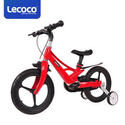 【耘凡兔203】lecoco乐卡儿童自行车单车宝宝小孩脚踏车辅助轮 玛格极速版14寸