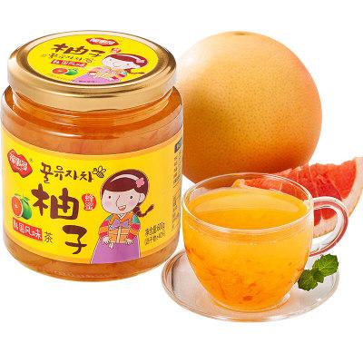 福事多蜂蜜柚子茶600g 韩国风味冲饮果汁水果茶饮料