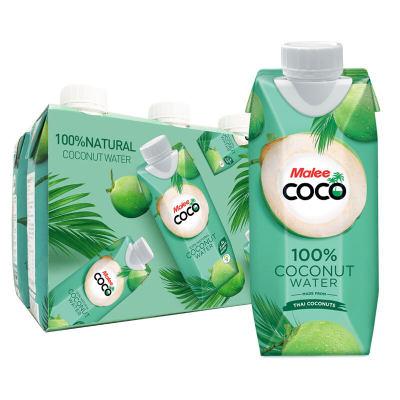 进口 玛丽天然无添加原味椰子水饮料椰汁果汁330ml*6瓶