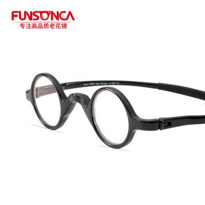 Funsonca 小巧复古超弹防蓝光老花镜200度