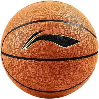 李宁LI-NING CBA联赛篮球吸湿PU材质比赛7号蓝球