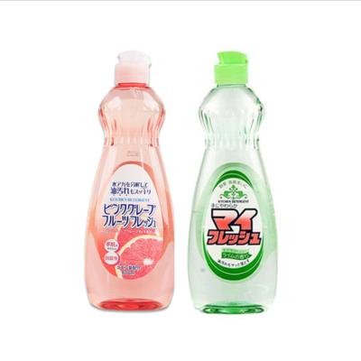 {宏阳}日本原装进口果蔬餐具洗洁精果味洗洁剂600ml西柚味低泡易洗(2瓶起包邮)