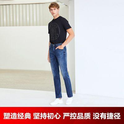 INTERIGHT牛仔裤男 经典直筒牛仔裤