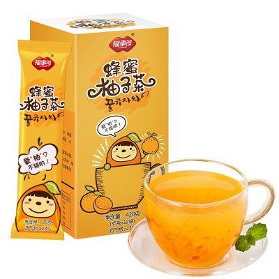 福事多 蜂蜜柚子茶420g 韩国风味冲饮果汁水果茶饮料