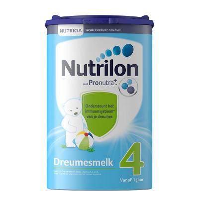【耘凡兔013】荷兰版Nutrilon诺优能荷兰牛栏4段奶粉新鲜奶源800克*2罐12个月以上