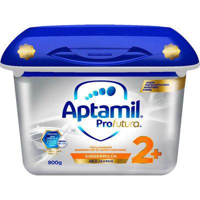 【耘凡兔013】德国爱他美白金双重母乳低聚糖HMO婴儿配方奶2+段 800g*2罐