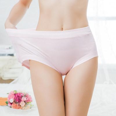 小护士 大码女士内裤 MAN028加肥加大棉质中腰内裤女 混