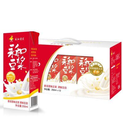 永和豆浆 早餐豆奶 植物蛋白饮料香浓原味豆浆250ml*12