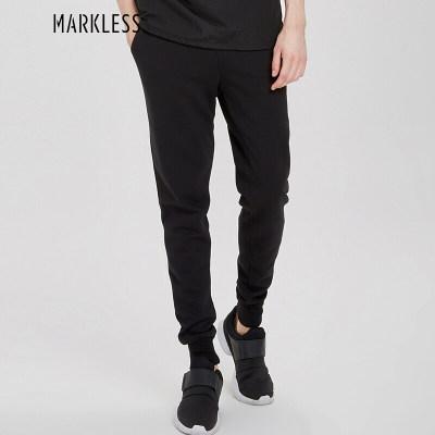 MARKLESS 休闲裤男休闲运动束脚裤宽松透气哈伦小脚裤子