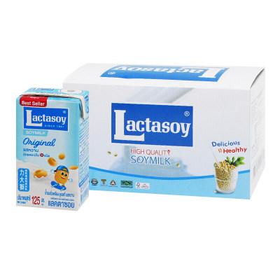 力大狮 Lactasoy 原味豆奶 125ml*6盒 泰国进