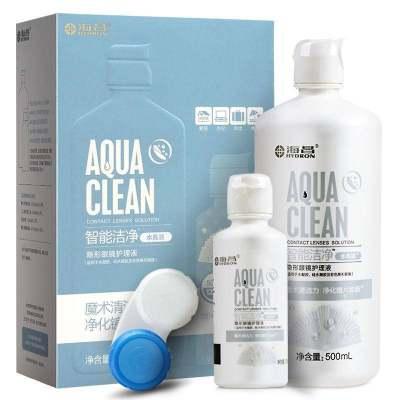 海昌水亮洁500ml+120ml美瞳近视隐形眼镜护理液清洁药水