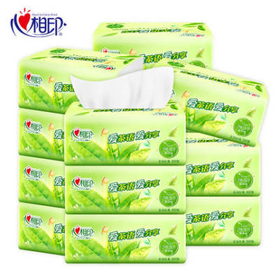【耘凡兔946】心相印抽纸茶语纸巾家用卫生纸M码18包整箱100抽