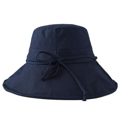 玖慕(JIUMU)遮阳帽渔夫帽女夏季户外海边沙滩帽防紫外线防