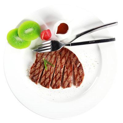【耘凡兔750】当顿庄园 鲜嫩多汁 儿童牛排130克X8袋 冰鲜牛肉已腌制 送酱料油包刀叉